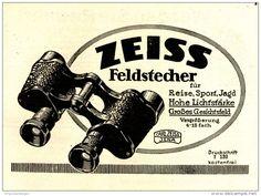 Original-Werbung/ Anzeige 1922 - ZEISS FELDSTECHER - 140 x 100  mm