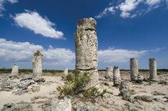 Het Stenen Woud vlakbij Varna aan de kust van de Zwarte Zee in Bulgarije #stalagmieten