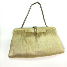 Vintage-Ande-Gold-Clasp-Clutch-Chain-Handbag-Small-Holiday-Evening-Purse