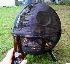 BBQ grill that looks like the Death Star from the Star Wars series. WHY WHY WHY don't I have this??