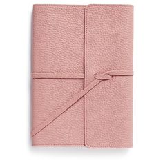 Bynd Artisan A5 soft leather journal ($95) ❤ liked on Polyvore featuring home, home decor, stationery and pink