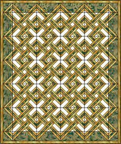 Irish Plaid - I really like the look of this quilt block pattern from Quilters Cashe.