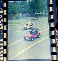 Old picture of me driving a toy car.  I think I was around 5 years old.