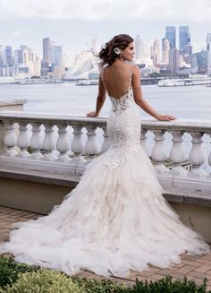 Dramatic Eve of Milady wedding dresses; click to see more gorgeous gowns from this collection.