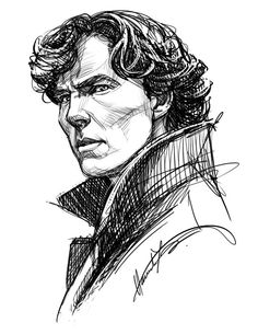 Sherlock Portrait by nitefise-art. Sherlock Tumblr, Sherlock Bbc, Shinee Sherlock, Sherlock Fandom, Sherlock Holmes Benedict, Benedict Cumberbatch, Funny Sherlock, Sherlock Quotes, Sherlock Fan Art