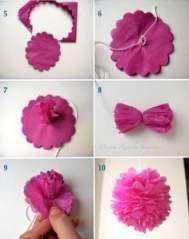 Trendy Flowers Paper Tutorial Tissue Poms Ideas Flowers In 2020