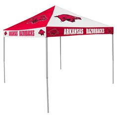 Arkansas Razorbacks NCAA 9 x Checkerboard Color Pop Up Tailgate Canopy  sc 1 st  Pinterest & Arkansas Razorbacks NCAA 9u0027 x 9u0027 Straight Leg Tailgate Canopy Tent ...