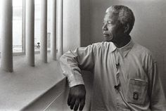 Nelson Mandela: Robben Island Prisoner, Nobel Laureate, President of South Africa. Nelson Mandela was imprisoned on Robben Island for 18 of the 27 years of his total imprisonment. Times New Roman, First Black President, Black Presidents, Apartheid, Nobel Peace Prize, Shaquille O'neal, Mark Hamill, Cape Town, Debt Free