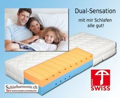 Dual Sensation swiss made Matratze mit Wohfühlgarantie Toddler Bed, Sleep Better, Mattresses, Bedroom, Homes, Child Bed