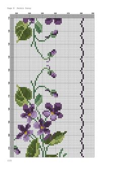 Cross Stitch Borders, Cross Stitch Flowers, Cross Stitch Charts, Cross Stitching, Cross Stitch Patterns, Cross Stitch Embroidery, Needlepoint Patterns, Embroidery Patterns, Flower Ornaments