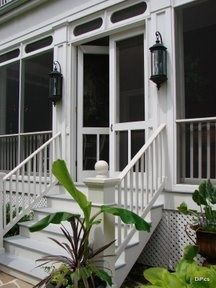 Lovely screened in porch for after we tear off the front porch!