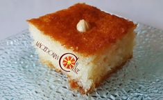 COCONUT, SEMOLINA CAKE WITH SYRUP ~ Macedonian Cuisine Semolina Recipe, Semolina Cake, Gourmet Recipes, Dessert Recipes, Desserts, Saganaki Recipe, Chocolate Sorbet, Lemon And Coconut Cake, Syrup Cake