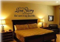 Every love story is beautiful but ours is my favourite,PVC Waterproof Removable Wall Stickers,Wall Art Decals Free Shipping $6.50
