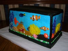 Saltwater Aquarium Cake: Starfish, Anemone, Clown Fish, Hippo Tang, Blood Crab, and Coral