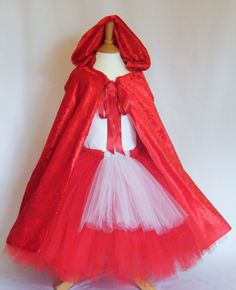 Tutu skirt and Red Cape Dress Up outfit - Inspired by Little Red Riding Hood www.facebook.com/tutusandtwinkles