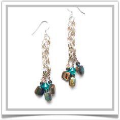 "One-of-a-Kind ""River"" Earrings - Designed by Belle Bijou:  http://www.bellebijoujewelry.com/store/detail/index.html#cid=48446"