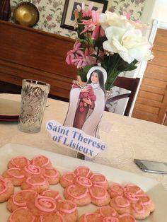 Familia Católica: Galletas para el día de Santa Teresita - 1o de octubre