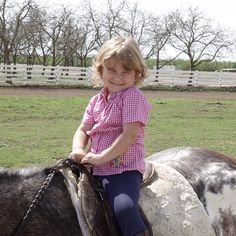 First horse ride.