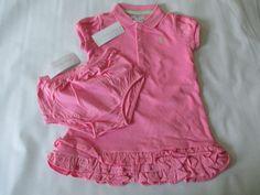 NWT girl's size 18mo. RALPH LAUREN pink - green pony cotton ruffle polo dress #RalphLauren #Everyday