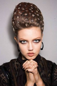 The best moments from Paris couture: Jean Paul Gaultier does wild spotted hair on Lindsey Wixson