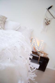 Diy letterlamp lamp light brudeteppe weddingblanket boho bohemian nordic rustic letter