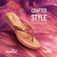 Presenting the fabulously stylish and youthful limited-edition premium handcrafted footwear from Walkaroo!  #Walkaroo #BeRestless #HandCraftedFashion Footwear, Stylish, Crafts, Products, Shoe, Shoes, Crafting, Diy Crafts, Craft