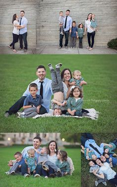 The JHouse family portrait session by Jillian Farnsworth. Johnston family of JHouseVlogs at the Nelson-Atkins Museum of Art in Kansas City, Missouri.