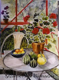 In the Greenhouse by Kerstin Frank art, via Flickr