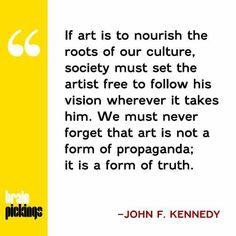 JFK - on Frost, on Art...