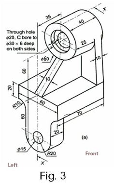 Mechanical Engineering Design, Paper Engineering, Mechanical Design, Isometric Drawing Exercises, Autocad Isometric Drawing, Cad 3d, Autocad 2014, Learn Autocad, Orthographic Drawing