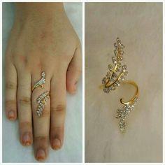 Cz/diamond ring Coral Jewelry, India Jewelry, Diamond Jewelry, Gold Ring Designs, Gold Earrings Designs, Beaded Jewelry Patterns, Gold Bangles, Wedding Jewelry, Jewelery
