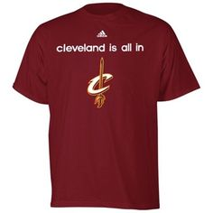 adidas Cleveland Cavaliers  2013 NBA Draft All In T-Shirt - Wine