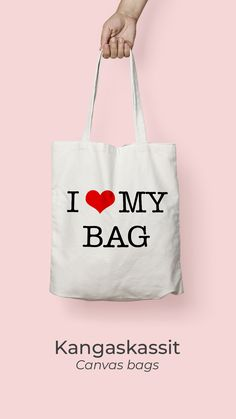 We can make canvas bags in multiple colors with any print you wish to have! Canvas Bags, Cotton Bag, My Bags, Tote Bag, Colors, How To Make, Design, Products