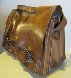 Vintage leather briefcase I won at a Fund Raiser Auction