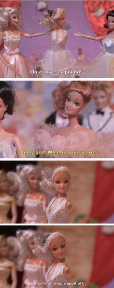 ROFL. Barbie weight loss