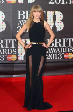 Swift's Brit Awards' body-hugging sheer-inset Elie Saab creation was one part sophistication, two parts sex appeal.