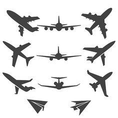 Plane vector icons by vectortatu on Free Vector Graphics, Vector Icons, Vector Art, Architecture Symbols, Plane Icon, Airplane Illustration, Plane Tattoo, Airplane Wallpaper, Airplane Vector