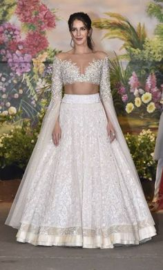 Indian Bridal Wear Manish Malhotra Blouses 46 Trendy Ideas You can find different rumors about the annals of the … Indian Bridal Outfits, Indian Bridal Lehenga, Indian Bridal Wear, Indian Gowns, Indian Designer Outfits, Designer Dresses, Blouse Lehenga, Lehnga Dress, Cape Lehenga