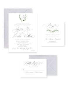 d1364b2d5f73 Rebecca Green DesignProducts you tagged · Grey and White Wedding Invitation  ...