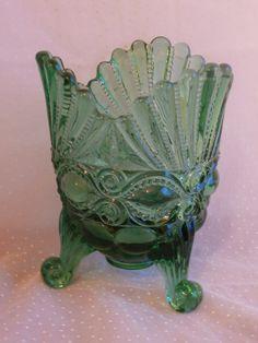 Green Eyewinker Spooner Vintage Wright Glass by MendozamVintage, $39.99