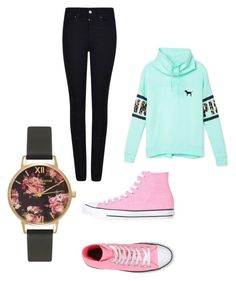 """""""Untitled #541"""" by emilyolson2019 on Polyvore featuring Olivia Burton, Converse, Armani Jeans, Victoria's Secret, women's clothing, women, female, woman, misses and juniors"""