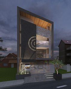 Exterior Visualization on Behance House Outer Design, Bungalow House Design, House Front Design, Modern Exterior House Designs, Bungalow Exterior, Exterior Design, Home Building Design, Building Exterior, Front Elevation Designs