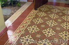 Residential Encaustic Cement Tile Installations | Villa Lagoon Tile