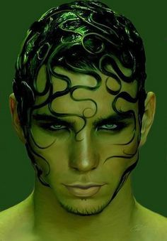 Gorgon (I've never heard of a male gorgon, but I thought this picture was a fascinating interpretation)