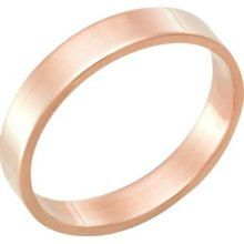 Mens 14K  Rose Gold Wedding Band Ring  5MM Wide  by TallieJewelry