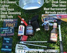 Teacher Appreciation Gift Idea: Grilling Kit is a fun teacher appreciation gift idea for a male teacher!