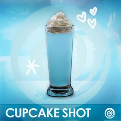 Tonight's drink of choice! Hpnotiq Cupcake shot: 1 part Hpnotiq, 1 part whipped cream vodka #cocktails
