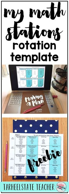 Math Stations Rotation Template | Math Stations Schedule Board | I'm sharing how I schedule my math stations rotations. Grab your free editable math rotations station template for upper elementary math stations. Learn how my math stations are differentiated within the schedule of assignments. Find out how I manage my stations without using a bulletin board.