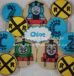 Custom decorated sugar cookies created in Bradford Ontario in a health board approved kitchen.