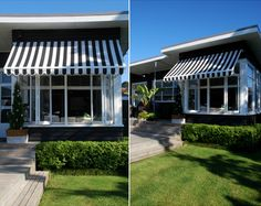 1950's black house with awning